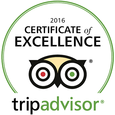 Toscana's named 2016 TripAdvisor Certificate of Excellence Winner